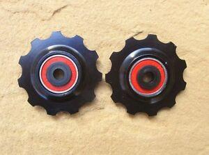 MT-Zoom-Negro-Cojinete-Ceramica-Aleacion-Ruedas-11-DIENTES-Par-Para-Shimano-SRAM