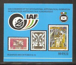 HUNGARY-1983-Intl-Astronautical-Federation-IAF-Cardboard-Commemorative-Sheet