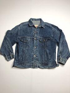 Lee Embellished Acid Wash Denim Trucker Jacket M