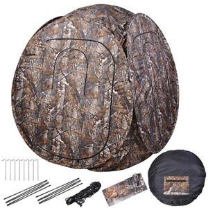 2-Person-Portable-Pop-Up-Hunting-Ground-Blind-Enclosure-Deer-Game-Hunter-w-Bag