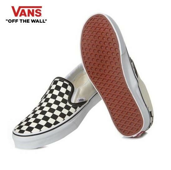 VANS Clásico Slip On blancoo Negro Checker Street Estilo Moda Tenis, Zapatos