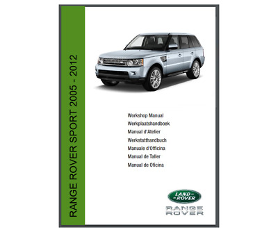 MANUALE OFFICINA RANGE ROVER SPORT 2005-2012 WORKSHOP MANUAL SERVICE