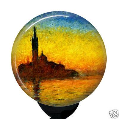 Claude Monet Tulip Fields Badge Reel Holder Custom ID Name Badge Holder