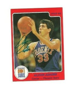 Alvan Adams 1984-85 Star signed auto autographed card Suns
