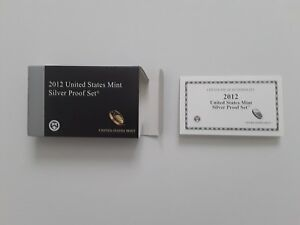 2012-Silver-Proof-Set-BOX-and-COA-ONLY-NO-COINS-or-lenses