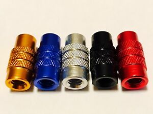 Presta-French-EASY-GRIP-valve-dust-caps-Bike-Cycle-5-PAIRS-MIXED-COLORS-By-OKM