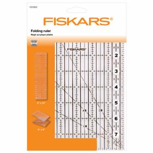 Easy to Store /& Travel Fiskars Ruler 6 x 24in Folding Acrylic Ruler by Fiskars