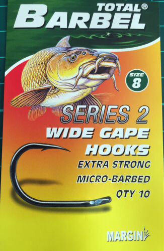 10 8 BARBEL SERIES 2 WIDE GAPE HOOKS BUY 1 GET 1 FREE 6