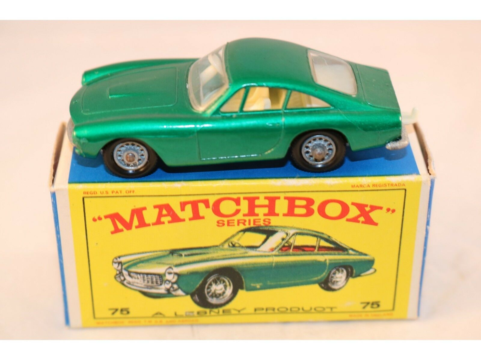 Matchbox lesney 75 ferrari berlinetta grüner minze in der box