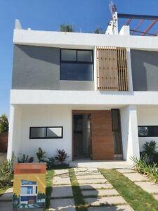Casa 3 niveles con 3 habitaciones  jardín y roof garden en carr Cholula Huejotzingo
