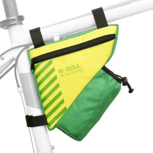 Bicycle Triangle Front Frame Tube Bag Bike Pocket New Bottle CASE COVER M2S0