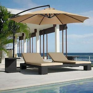 Image Is Loading 10ft Hanging Offset Umbrella Canopy Sun Outdoor Shade