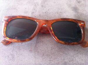 853587f4c3951c Lunette femme solaire vintage monture plastique marron orange marbré ...