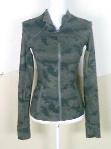 lululemon womens size 4 jacket savasana fatigue green camo