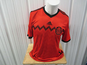 Image is loading VINTAGE-ADIDAS-MEXICO-NATIONAL-FOOTBALL-TEAM-MEDIUM-SEWN- baba0b9d1