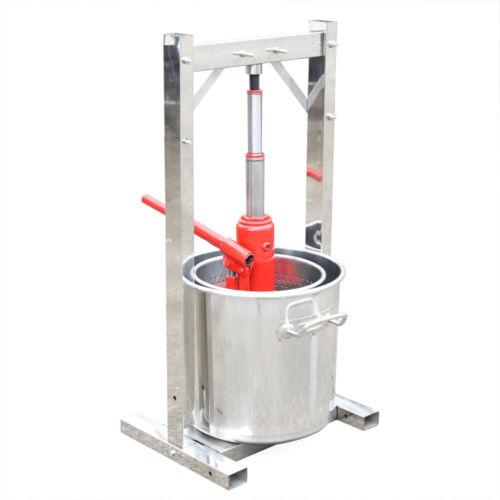 12L Obstpresse Weinpresse Apfelpresse Entsafter Saftpresse mit Hydraulic Jack DE