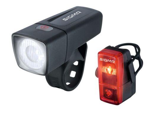 Sigma Vélo Beleuchtungsset Front lampe feu arrière Set DEL aura 25 Cubic
