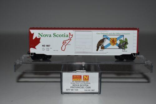 N Scale MTL 07700154 Nova Scotia Province 50/' Single Door Boxcar 1867 C6148