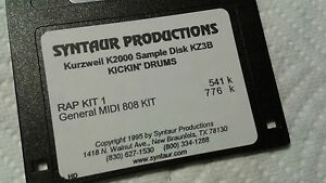 Kurzweil ~ New Old Stock ~ KICKIN' DRUMS ~ KZ3B ~ Kurzweil V.A.S.T Programs!!!