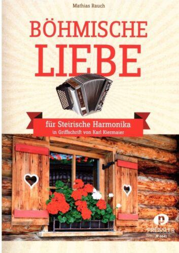 Steirische Harmonika Noten mittelschwer Einzelausgabe Böhmische Liebe