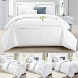 Hotel-Bedding-Duvet-Cover-Set-With-Pillow-Case-Quilt-Bedding-White-Double-King