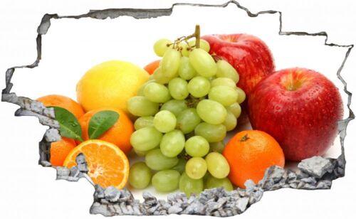 Obst Früchte Apfel Trauben Orange Wandtattoo Wandsticker Wandaufkleber C0426