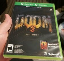 DOOM 3 BFG EDITION GAME FOR XBOX 360 AND XBOX ONE FACTORY SEALED NEW WITH POSTER