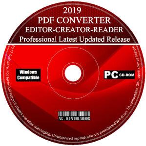 Détails Sur 2019 Pro Pdf Suite Convertir Edit Pdf To Word Créateur Pour Windows 7 8 10 Afficher Le Titre Dorigine