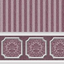 ANNABELLE WAINSCOT MURAL PURPLE PLUM DOLLHOUSE WALLPAPER 1:12 SCALE 2611