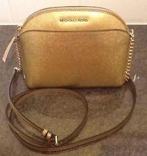 BNWT Michael Kors MK Emmy pale gold leather medium crossbody bag 35H7GY3C2M c3e3515ed281d
