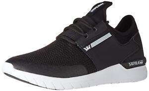 14e6f0a7af84 Supra Flow Série Chaussures de Skate Baskets Noir Blanc 08021-091