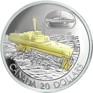 2003-Canada-20-Sterling-Silver-Coin-HMCS-Bras-d-039-or