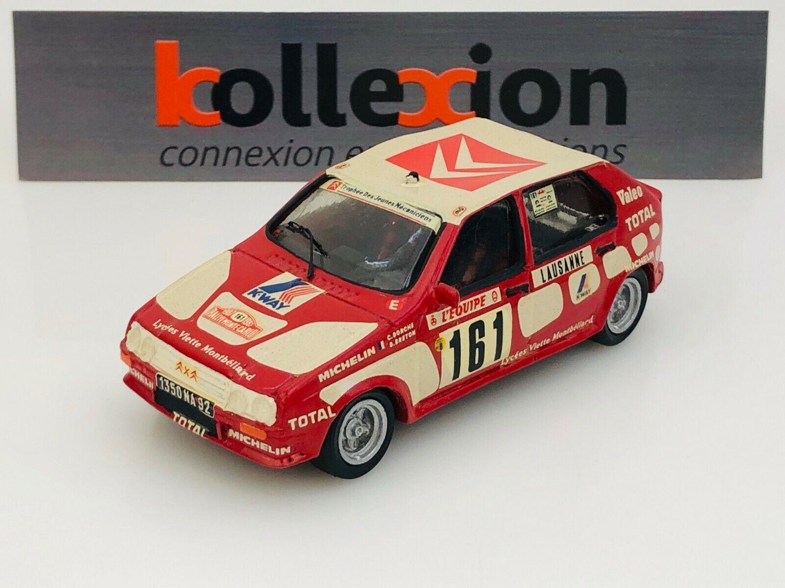 Dm modeles citroen visa 1000 pistes nº 161 rally montecarlo 1987 C. dorche 1.43