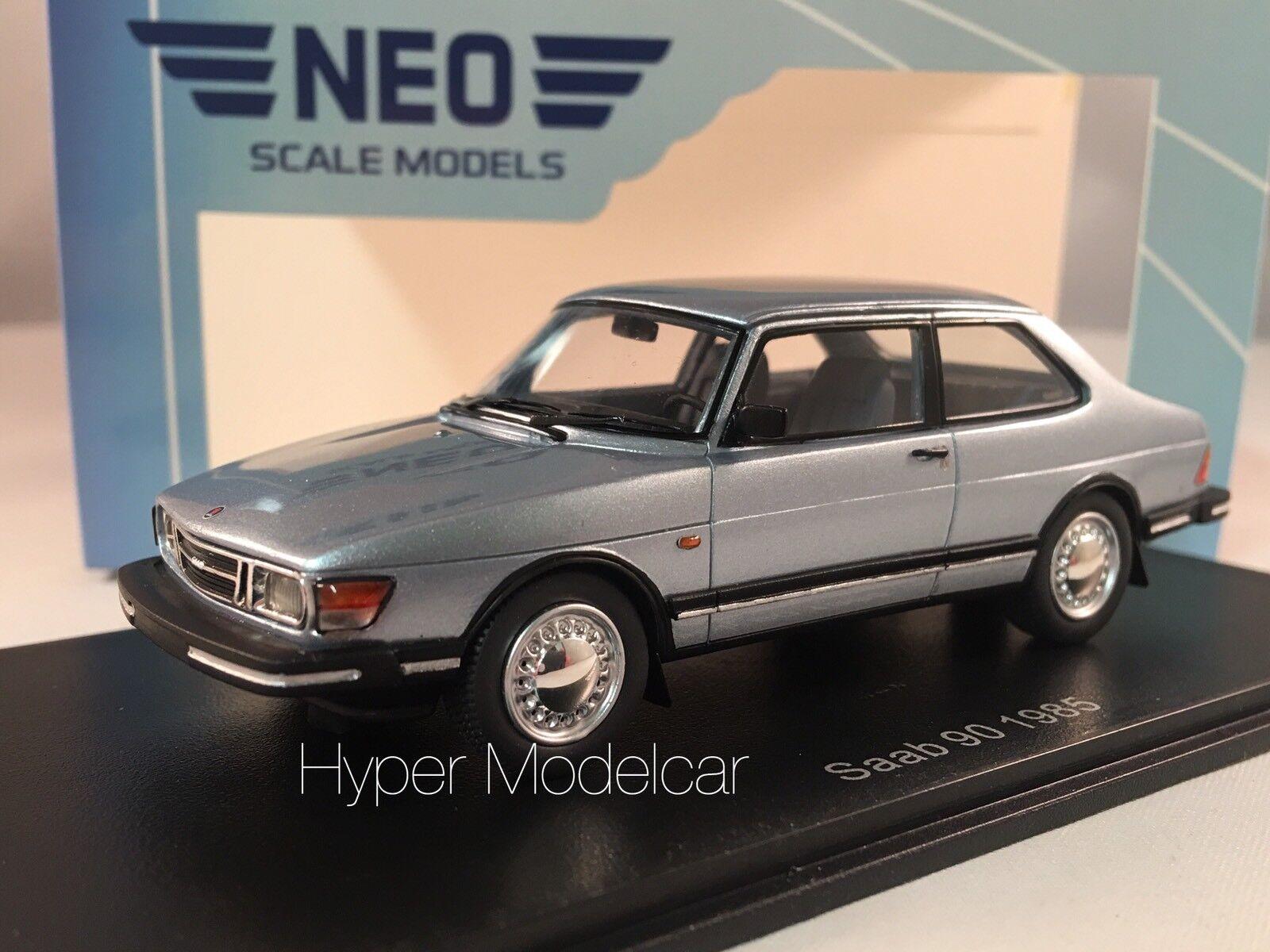 NEO SCALmodellllerLER 1  43 Saab 90 1985 Lätt blå NEO43674