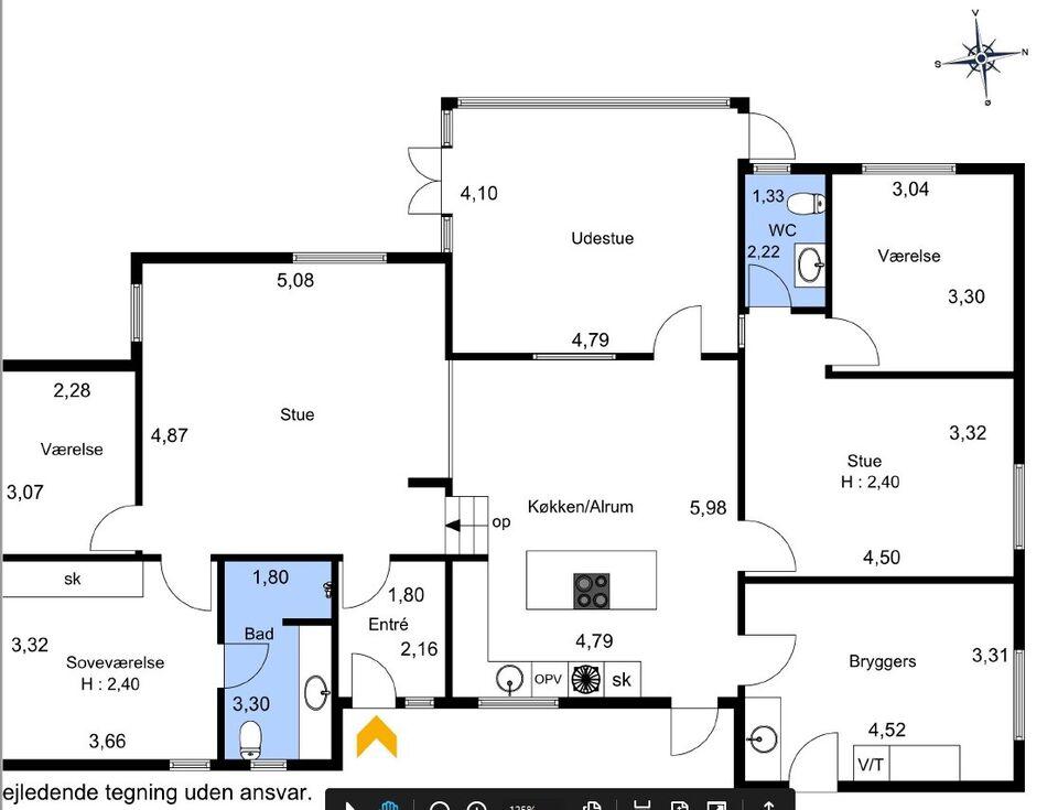 Villa 7830, 156 m2 murermester villa 5 vær.