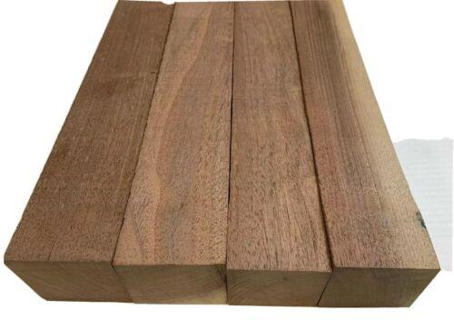 "4 Pack Set Black Walnut Lumber Board 2/"" x 2/"" x 12/""  FREE SHIP Turning Wood"