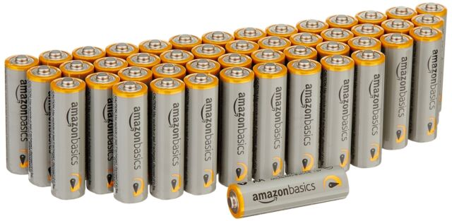 AmazonBasics AA Performance Alkaline Batteries (48 Count) - Packaging May ..