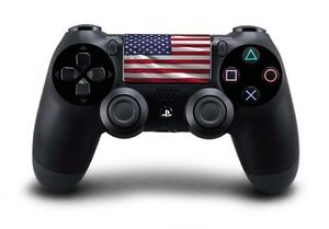 Dualshock-4-PS4-Manette-pave-tactile-decal-ETATS-UNIS-USA-etoiles-amp-bandes