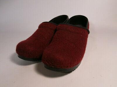 Dansko EU 37 Women's US 7 Red Wool Felt