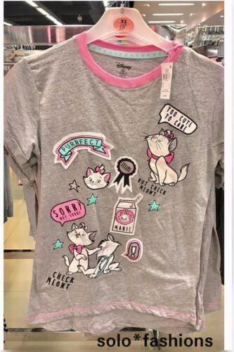 Primark Ladies DISNEY ARISTOCATS MARIE PURRFECT Pyjama T shirt Pjs Women's
