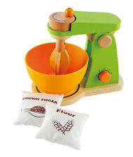 New Hape Mighty Mixer Wooden Kitchen Pretend Play Cooking Baking Set