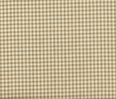 """NEW Tailored 22"""" French Country Gingham Check Linen Beige King Bedskirt Cotton"""