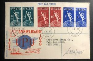 1949-Windhoek-South-West-Africa-SWA-FDC-First-Day-Cover-Universal-Postal-Union