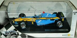 MATTEL-HOT-WHEELS-RENAULT-R24-F1-Racing-Team-Pilota-JARNO-TRULLI-scala-1-18