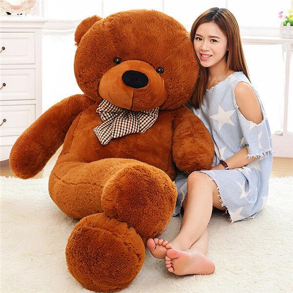 63in. Giant Big Huge Large marrone Teddy Bear  Plush soft Toys doll Valentine Gift