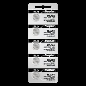 Energizer-357-303-Silberoxid-Knopfzelle-Batterien-5-Pack-Tear-Strip-NEU