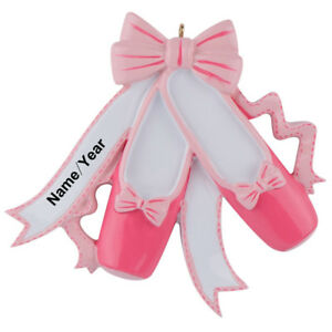 Pink-Ballet-Slippers-Ballerina-Personalized-Christmas-Ornament-Xmas-Gift