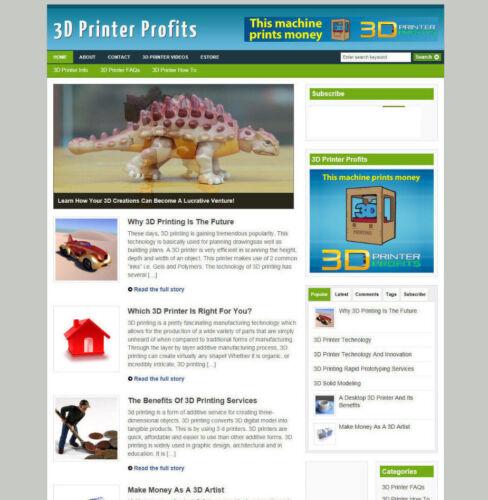 3D PRINTER PROFITS ADVICE AFFILIATE STORE /& BLOG FREE DOMAIN /& HOSTING