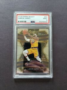 LEBRON-JAMES-2019-20-Panini-Select-Concourse-47-PSA-9-MINT-Lakers-Invest