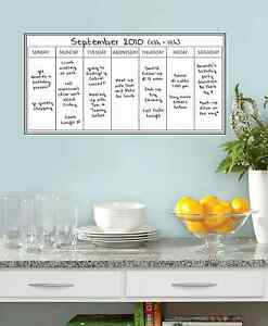 Image Is Loading Wall Dry Erase Whiteboard Weekly Calendar Planner Home